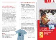 Kampagne für saubere Kleidung - Nord-Süd-Netz