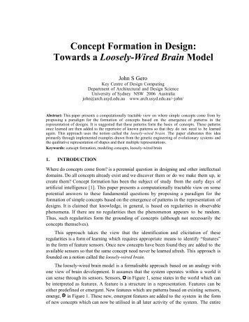 Concept Formation in Design - Mason academic research system ...