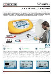DVB-S / DVB-S2 Satellite hunter - SATHUNTER+ - Promax