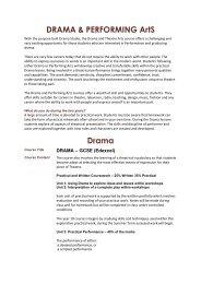 DRAMA Booklet - Bideford College Online