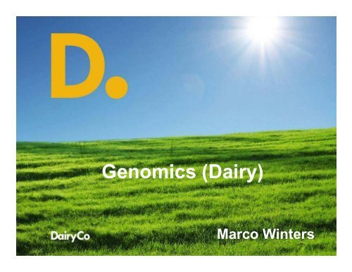 Genomics (Dairy)