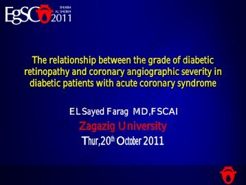 Zagazig University Thur,20th October 2011 - cardioegypt2011