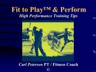 Fit to Play™ & Perform - Coaching Association of Canada