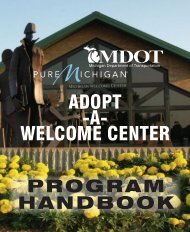 Adopt a Welcome Center Program Handbook - Travel Michigan