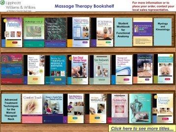 Massage Therapy Bookshelf - Lippincott Williams & Wilkins
