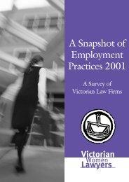 A Snapshot of Employment - Victorian Women Lawyers