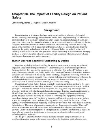 Chapter 28. The Impact of Facility Design on Patient Safety