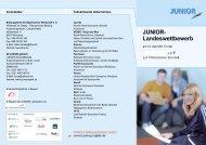 Programm - Junior