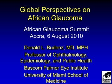 Global Perspectives on African Glaucoma - World Glaucoma ...