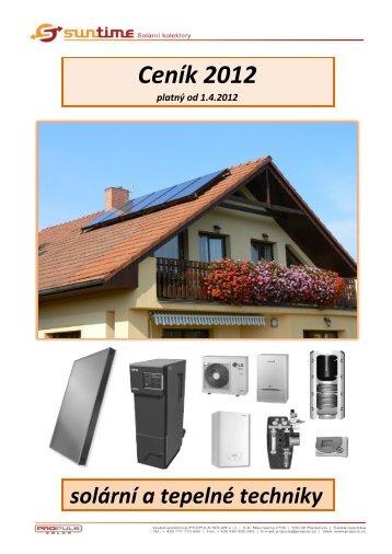 Solární komponenty