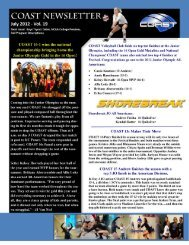 CoastNewsletter7-201.. - Coast Volleyball Club