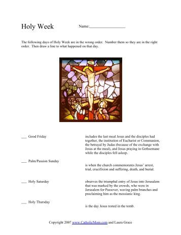 Easter Match Up Worksheet - Catholic Mom