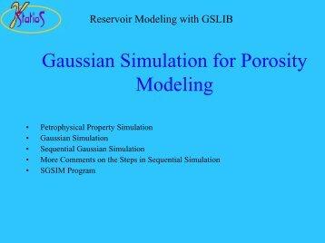Gaussian Simulation for Porosity Modeling - Statios