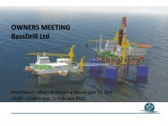 OWNERS MEETING BassDrill Ltd