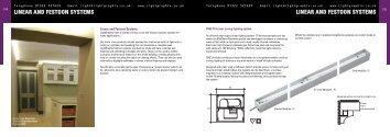 linear and festoon systems linear and festoon ... - Lightgraphix Ltd.