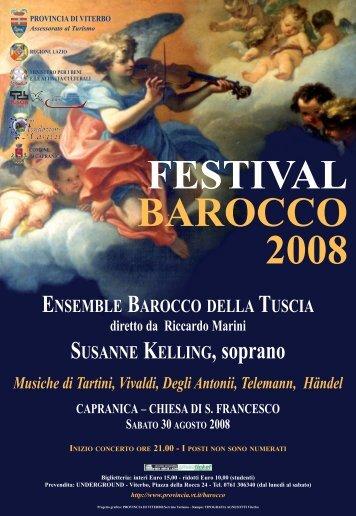 Ensemble Barocco della Tuscia - Provincia di Viterbo