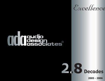 Audio Design Associates 2006 Brochure