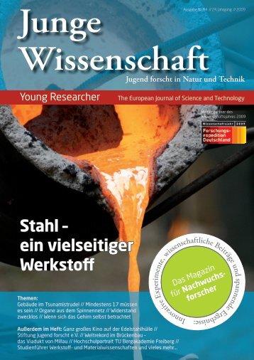 Stahl – ein vielseitiger Werkstoff - Junge Wissenschaft