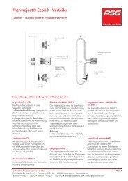 Zubehör - Standardisierte Heißkanalverteiler - PSG Plastic Service ...