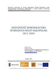 Dostepnosc komunikacyjna 2011-2020 ver2x - Małopolskie ...