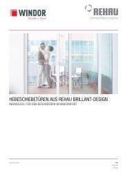 hebeschiebetüren aus rehau brillant-design - WINDOR Fensterwerk