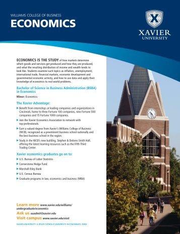 ECONOMICS - Xavier University