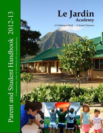 2012-2013 Parent Handbook - Le Jardin Academy