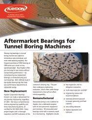 Aftermarket Bearings for Tunnel Boring Machines - Kaydon Bearings