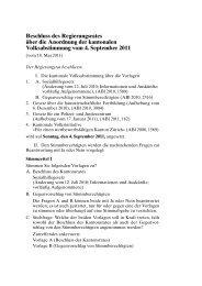 Beschluss des Regierungsrates über die Anordnung ... - Kanton Zürich