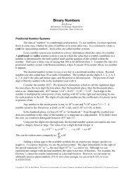 Binary Numbers - Bob Brown - Southern Polytechnic State University