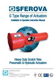 G-Type Actuator I.O.M. - Global Supply Line