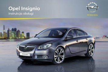 Opel Insignia 2012 – Instrukcja obsługi – Opel Polska