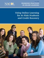 Using Online Learning for At-Risk Students and Credit ... - iNACOL