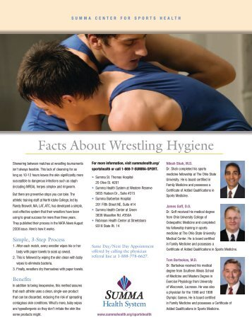 Wrestling Skin Check PDF - Summa Health System