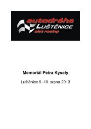 Memoriál Petra Kysely - Slot Racing