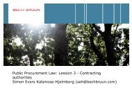 Public Procurement Law: Lession 3 - Contracting ... - Bech-Bruun