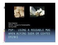 Rishi's PSP - Design for Sustainability