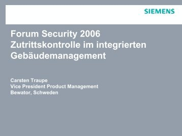 FORUM Security 2006 - Security-Forum