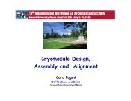 Cryomodule Design, Assembly and Alignment Carlo Pagani - LEPP