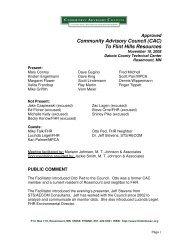 November 10, 2008 Approved Minutes - Community Advisory ...