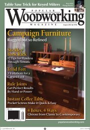 Campaign Furniture - Popular Woodworking Magazine