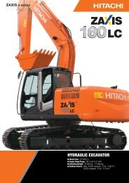 HYDRAULIC EXCAVATOR - Hitachi Construction Machinery