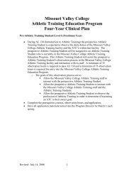 Missouri Valley College Athletic Training Education Program Four ...
