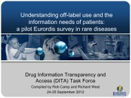 Understanding off-label use and the information needs of ... - Eurordis