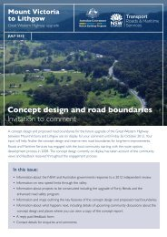Concept design and road boundaries - RTA - NSW Government