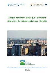 Status Quo analýza Slovenská republika - Slovenská inovačná a ...