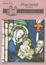 Pfarrbrief III/2013 - St. Heinrich Bamberg