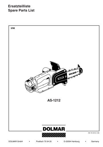 Ersatzteilliste Spare Parts List AS-1212 - Jurec