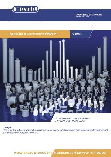 Kanalizacja wewnętrzna PVC/PP Cennik - PLASTBUD.Net