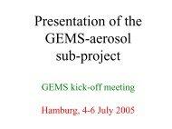 Application de la télédétection spatiale pour la surveillance ... - GEMS